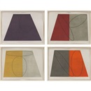 Plane/Figure Series (portfolio of 4 works) by Robert Peter Mangold