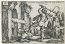 Hercules fighting against the Centaurs, from: The Labours of Hercules by Hans Sebald Beham