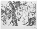 Buchenwald (from Vorfrühling in den Bergen) by Lovis Corinth