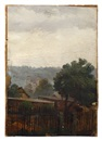 View over the gardens of Hosterwitz (Dresden) to Kepp Castle by Carl Gustav Carus