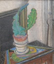 Futurist still life with cactus by David Davidovich Burliuk