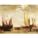 Boats at low tide by Willem van de Velde the Elder