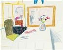 Interior of Odin's Restaurant by David Hockney