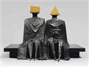 Sitting Couple in Robes I by Lynn Chadwick