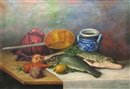 Still Life with Fish by Constantin Artachino