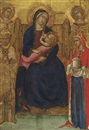 The Madonna and Child Enthroned with Saints Nicholas and Mary Magdalene and angels by Lippo Vanni