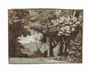 A wooded landscape by Claude Lorrain