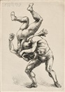 Wrestlers by Reginald Marsh