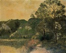 Soleil couchant by Georges Manzana-Pissarro