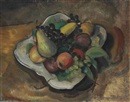 Fruit in a Dish by Konrad Cramer