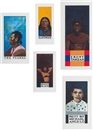Wrestlers: Ebony Tarzan; The Tuareg; Red Power; Penny Black; and Pretty Boy Michelangelo (set of 5) by Peter Blake