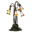 Seven-lily table lamp by  Tiffany Studios