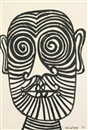 Striped Face by Alexander Calder