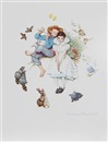 Sweet Song so Young, the Four Ages of Love Suite (set of 4) by Norman Rockwell