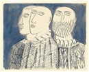 Untitled (Three Priests) by Francis Newton Souza