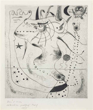 L'Éveil du Géant by Joan Miro