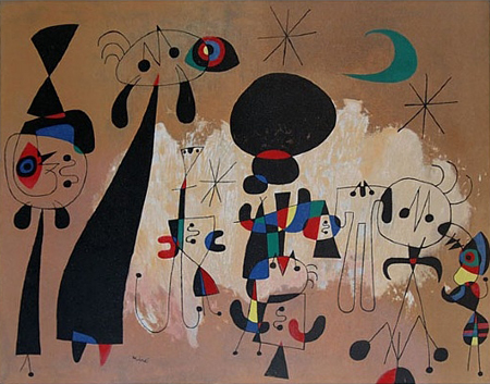 Woman, Moon, Stars by Joan Miro