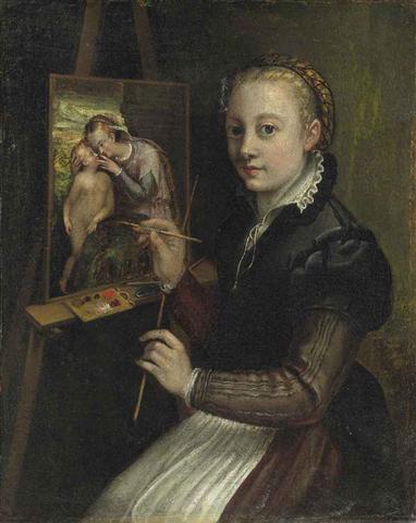 Self Portrait Attributed to Sofonisba Anguissola