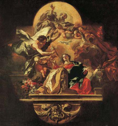 The Annunciation by Fancesco Solimen