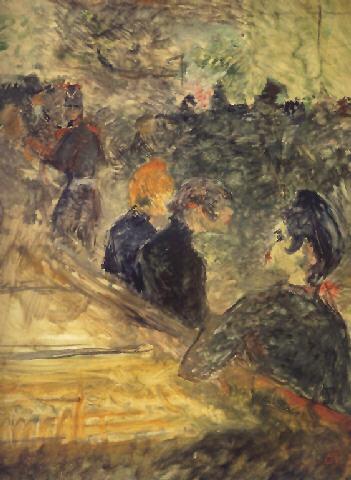 Au bal du Moulin de la Galette by Henri de Toulouse-Lautrec