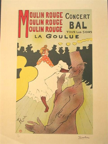 La Goulue au Moulin Rouge by Henri de Toulouse-Lautrec