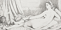 Odalisque (Harem Woman) by Jean-Auguste-Dominique Ingres