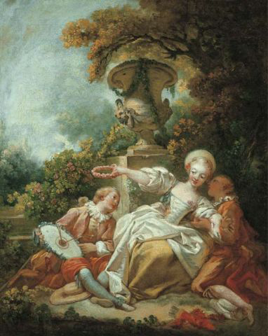 La coquette fixée (The fascinated coquette) by Jean Honoré Fragonard