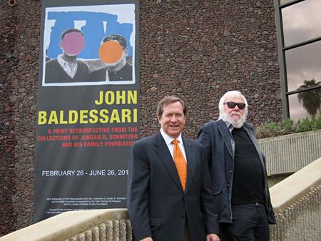 Jordan Schnitzer and John Baldessari