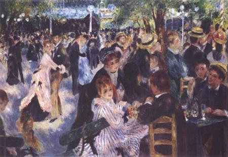 Au Moulin de la Galette by Pierre-Auguste Renoir