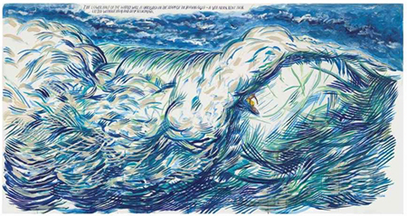 No Title (The Lower Half...) by Raymond Pettibon