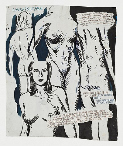 No Title (Unretouched. The curves) by Raymond Pettibon