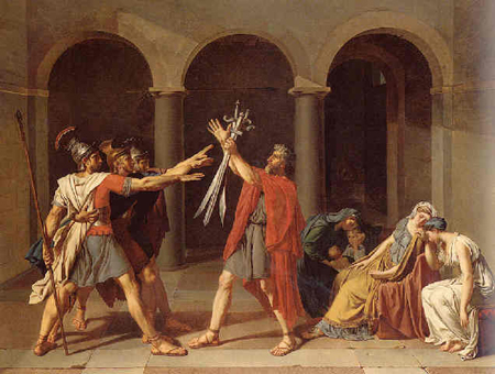 The Oath of the three Horatii by Studio of Jacques-Louis David