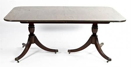 A Georgian Style Double Pedestal Table
