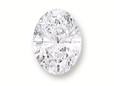 A spectacular oval diamond of supreme importance