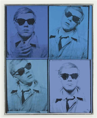 Self-portrait in 4 parts by Andy Warhol