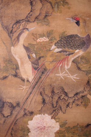 Flowering Tree with Birds attributed to Bian Lu
