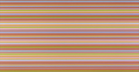 Red Overture by Bridget Riley