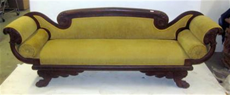 Classical American carved mahogany sofa