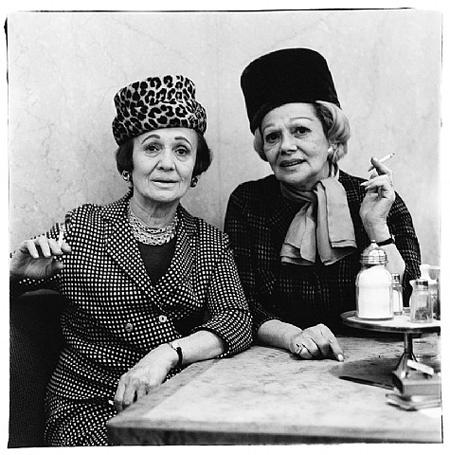 Two Ladies at the Automat, N.Y.C. by Diane Arbus