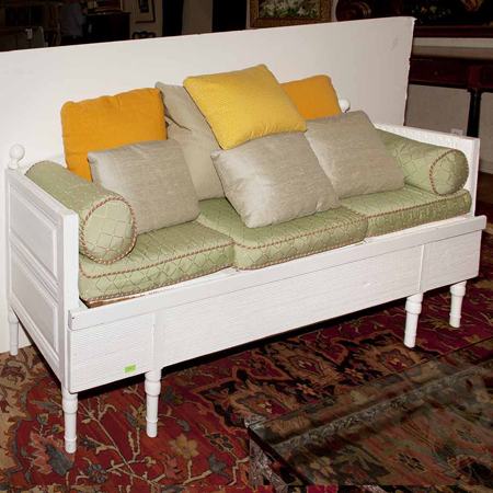 Directoire Style White Painted Settee