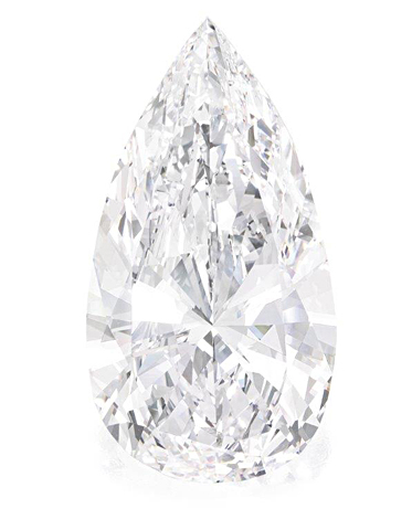 Exceptional Pear-Shaped Diamond