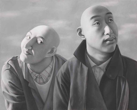 Series 1 no. 5 by Fang Lijun