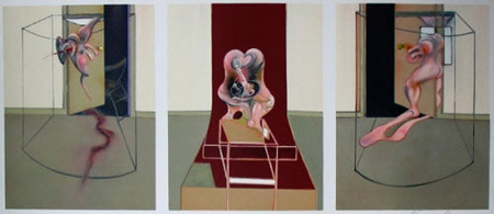 Triptych inspired by Orestia of Aeschylus by Francis Bacon
