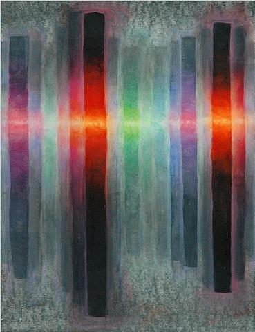 Vellum Painting C 10 by Gerard Mossé