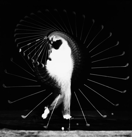 Densmore Shute Bends the Shaft by Harold Edgerton