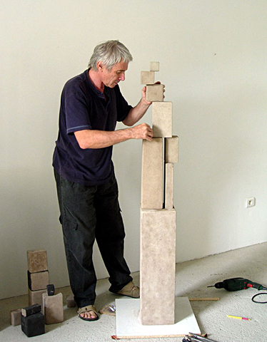 Jean Charasse in his studio 2010