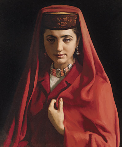 Tajik Bride by Jin Shangyi