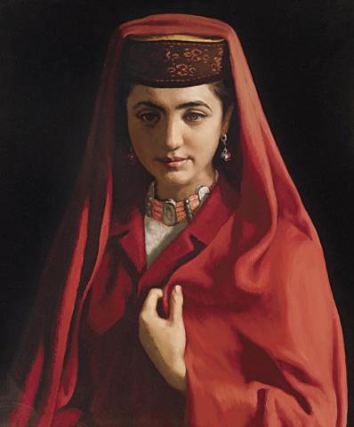 Tajik Bride by Jin Shangyi