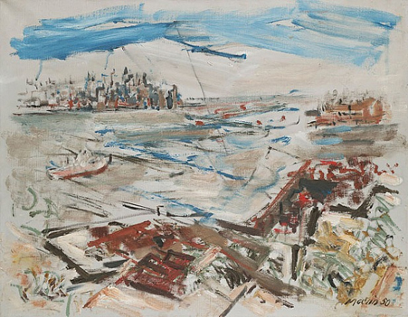 John Marin New York Series From Weehawken Heights 1950 at Questroyal Fine Art LLC, New York, NY