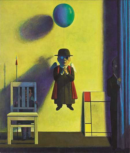 Composition of red, yellow, and blue by Liu Ye